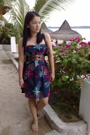 bangkok dress - Celine belt - Grendha shoes
