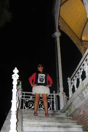 BLANCO jacket - H&M skirt - Dolores Promesas shirt - Marypaz shoes