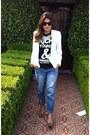 Boyfriend-asos-jeans-ivory-zara-blazer-black-t-shirt-leopard-print-pumps