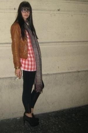 Levis jacket - shirt - American Apparel leggings - LAMB shoes - a peace treaty s