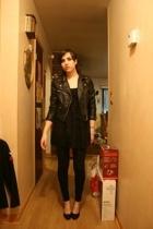 H&M jacket - H&M blouse - f21 leggings - Jessica Simpson shoes