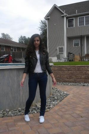 H&M sweater - H&M jacket - H&M t-shirt - BDG jeans - keds shoes