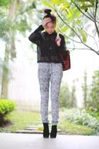 white Cheap Monday pants - black Zara blouse