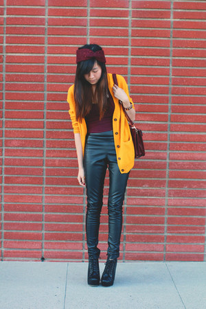 light orange H&M cardigan - crimson brandy melville intimate