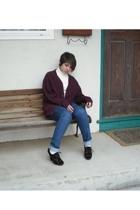 sweater - grandpas sweater - H&M jeans - Michael Kors shoes