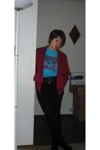 vintage jacket - Disney shirt - H&M jeans - Aldo boots