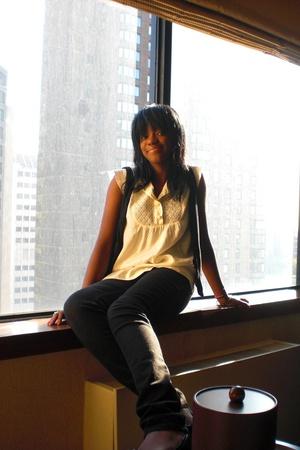 myself vest - Topshop blouse - Cheap Monday jeans -