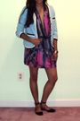 Pink-rachel-rachel-roy-dress-blue-marc-by-marc-jacobs-jacket-blue-dkny-shoes