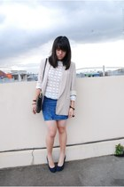 NIKICIO sweater - Topshop blazer - Miss Selfridge skirt - pull&bear heels - moms