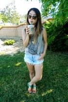 brown Target sandals - light blue no brand shorts