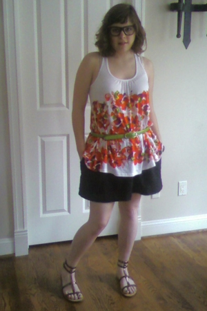 forever 21 top - Urban Outfitters skirt - Old Navy shoes - Target belt
