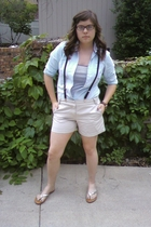 American Eagle shirt - American Apparel accessories - JCrew shorts - ann taylor