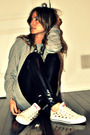 Gray-forever-21-sweater-black-american-apparel-leggings-beige-converse-shoes