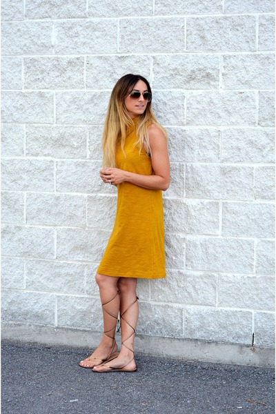 Mustard-sheinside-dress