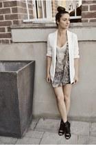 beige Buffalo David Bitton top - black Aldo shoes - off white H&M blazer