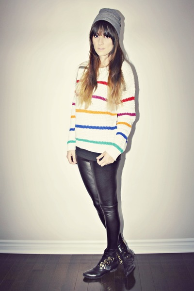 white striped knit Ardene top