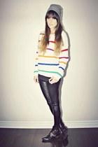 white striped knit Ardene top