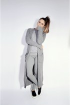 heather gray maxi OASAP cardigan