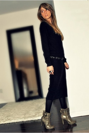 black le chateau jacket - brown le chateau vest - black Sirens skirt - gray Sire
