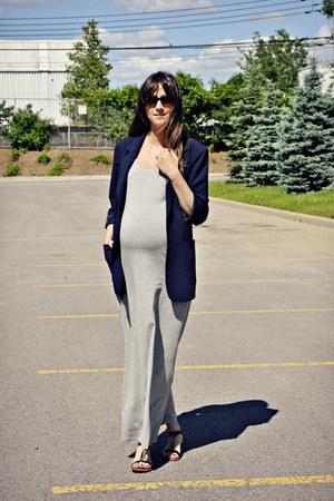 heather gray tank maxi H&M dress