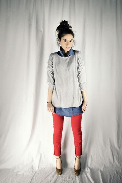 red Ardene jeans
