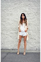 nude PERSUNMALL coat - white Ardene shorts