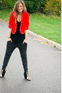 Red-vintage-blazer-black-sirens-top-gray-exr-loves-pucca-pants-black-aldo-