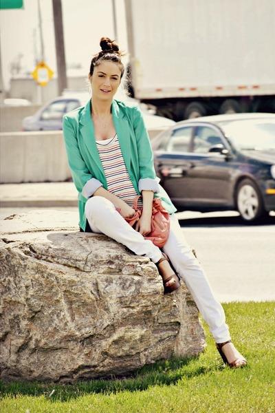aquamarine Urban Planet blazer - white skinny Sirens jeans