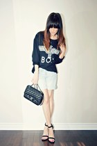 black boy london Sheinside sweatshirt - black 255 Chanel bag