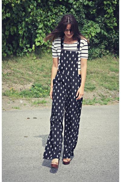 white striped crop Ardene t-shirt - black Forever 21 romper