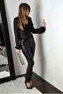 Black-david-bitton-buffalo-blouse-black-zara-pants-black-aldo-shoes-gray-