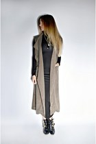 black maxi turtleneck Ardene dress - olive green dresslinkcom vest