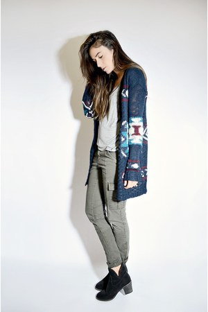 navy knit Ardene cardigan