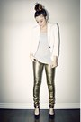 Gold-metallic-skinny-ardene-jeans