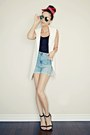 White-sleeveless-sheinside-blazer