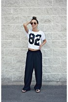 black wide leg H&M pants