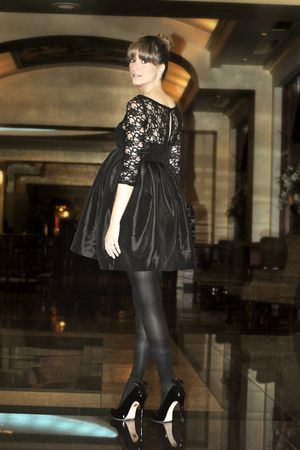 black lace my own creation dress - black Aldo shoes