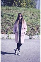 light pink Primark coat - gray knit Ardene sweater