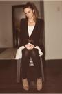 Black-h-m-cardigan-white-ebay-dress-brown-aldo-belt-beige-forever-21-shoes