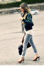 Green-zara-jacket-beige-ardene-top-gray-ardene-jeans-brown-david-bitton-b