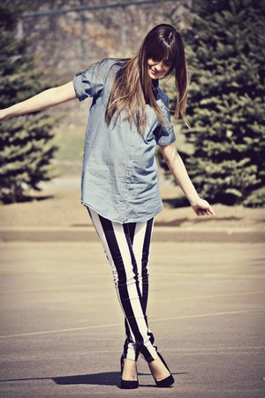 black vertical stripe Motel Rocks jeans