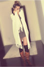 White-forever-21-brown-zara-dress-black-ardene-socks-brown-csn-stores-boot