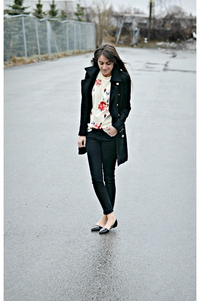 black skinny jeggings Levis jeans - beige Oasapcom sweater
