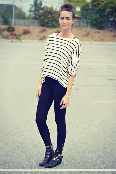 black ankle zip Zara leggings