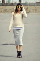 heather gray pencil skirt my own design skirt
