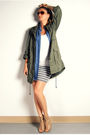 Green-h-m-jacket-blue-forever-21-shirt-white-ardene-top-gray-forever-21-sk