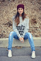 heather gray knit Ardene sweater
