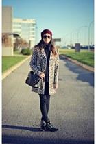 camel leopard print Oasapcom coat
