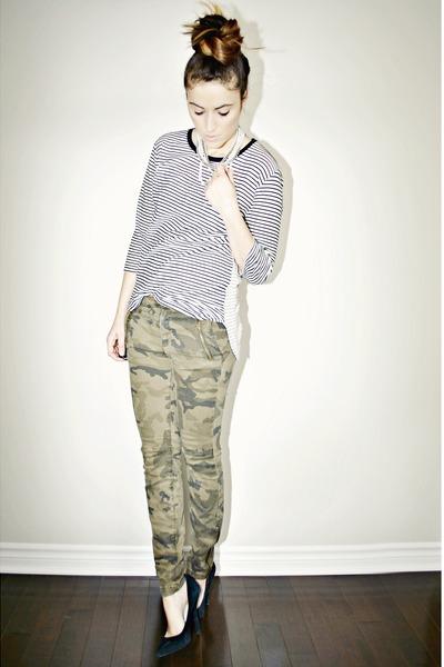 army green camouflage Zara jeans