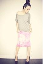 bubble gum tie-dye pencil Buffalo David Bitton skirt